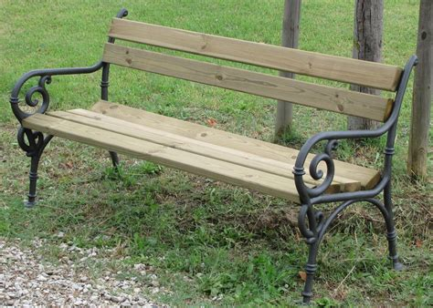 panchina ghisa panchina vienna arredo urbano legno pino 4007 pino