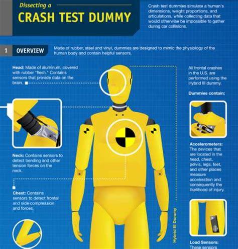 crash test dummy infographics car insurance accident