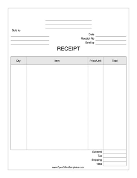 open office template receipt product receipt for business openoffice template