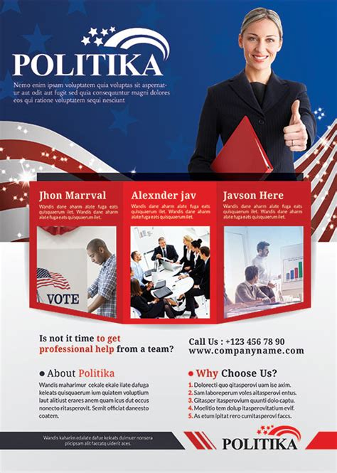 political brochure political caign brochure psd template industry