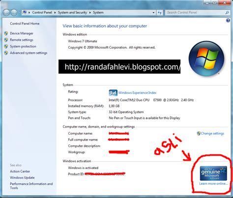 software membuat windows xp bajakan menjadi genuine randa fahlevi cara membuat windows 7 bajakan menjadi asli