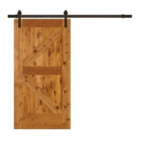 Lowes Barn Door Shop Reliabilt K Frame Knotty Alder Barn Interior Door Common 42 In X 84 In Actual 42 In X