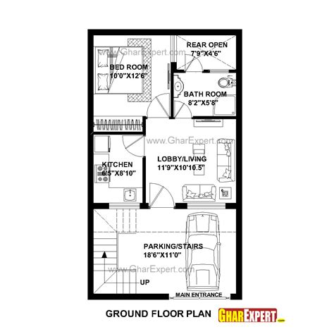 800 Square Feet Dimensions by 20 X 40 House Plans 800 Square Feet Escortsea