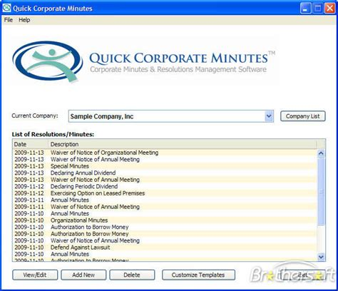 Download Free Quick Corporate Minutes Quick Corporate Minutes 4 0 Download Free Corporate Minute Book Template