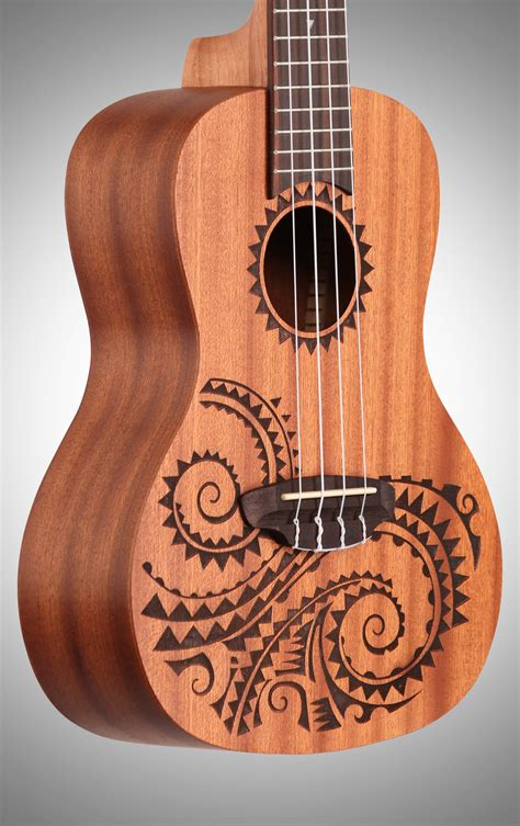 luna tattoo concert ukulele tcmah concert ukulele with gig bag zzounds