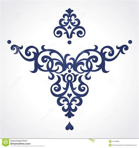 vector baroque ornament in victorian style stock vector