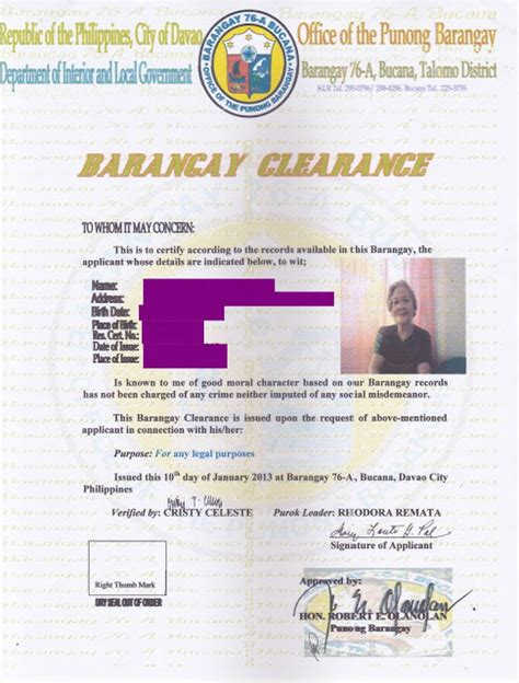 Endorsement Letter For Barangay Clearance How To Apply For Late Registration Of Birth The Charm Princess