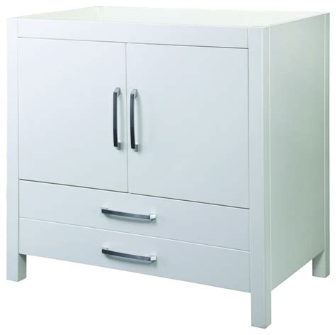 bathroom vanities without sinks decolav 5223 wht cameron vanity without top in white