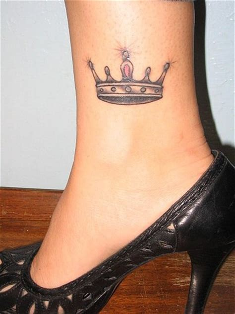 little crown tattoo on leg tattooimages biz