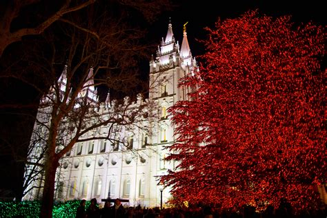 salt lake christmas tree lots time lapse of temple square clothed in