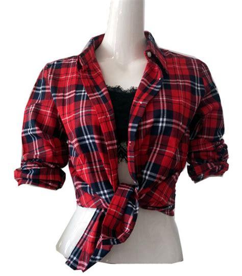 Crnvl Gb Plaid Sleeve Shirt tartan shirts womens artee shirt