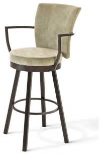 inch swivel bar stools with arms amisco cardin upholstered back swivel stool with arms 41430 30 inches bar heig contemporary