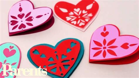 Valentines Day Paper Crafts - easy s day craft paper snowflake hearts