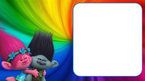 trolls template free printable trolls invitation templates