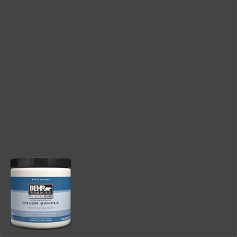 behr premium plus ultra 8 oz ppu18 20 broadway interior exterior satin enamel paint sle