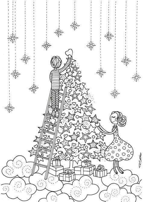 21 christmas printable coloring pages everything etsy