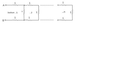 resistor ladder analysis circuit analysis closed form expression for a resistor ladder network electrical engineering