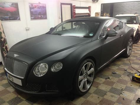 bentley black matte bentley gt matte black wrap