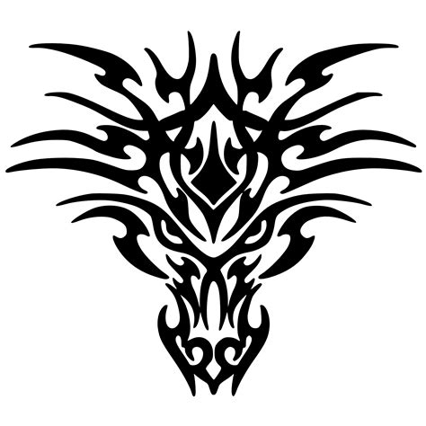 download black tattoo dragon png images hq png image