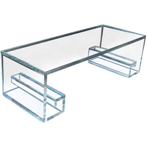 key table l key lucite coffee table at 1stdibs
