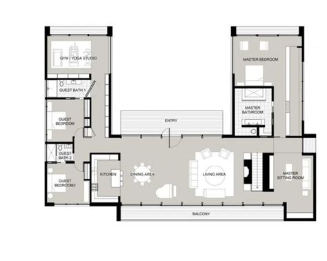 u shaped floor plans with courtyard the 25 best ideas about u shaped houses on pinterest u
