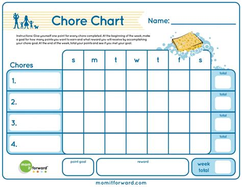 house chart template frugal home management cleaning and organizing on a budget