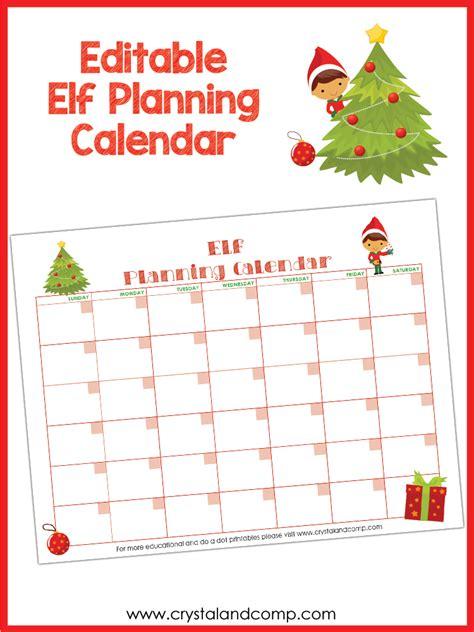 printable elf on the shelf calendar 2017 elf on the shelf printable planning calendar