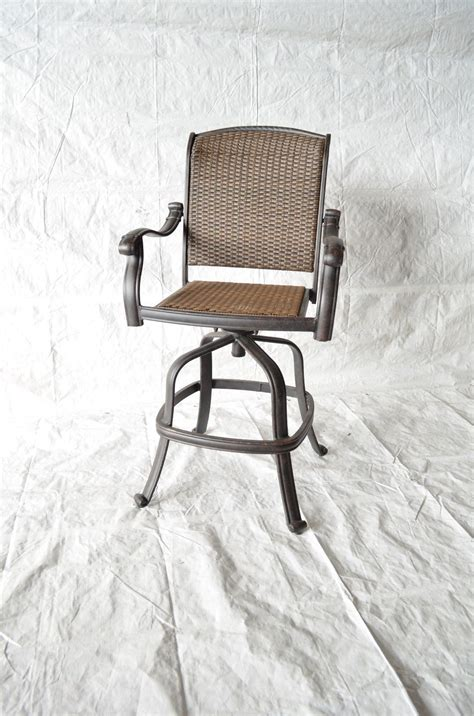 Outdoor Bar Stools Set Of 4 santa clara outdoor patio swivel bar stools cast aluminum