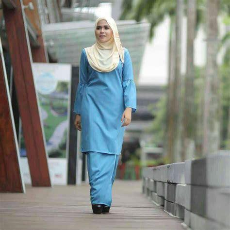 Baju Nikah Warna Baby Blue baju kurung moden baby doll saeeda collections