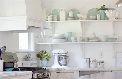 how to decorate open shelves kitchen open shelving why open shelving works