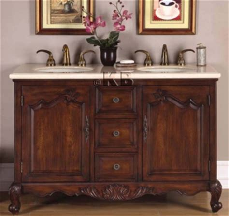 High Quality 52 Quot Bathroom Vanity With Marble Top Double Sink High Quality Bathroom Vanity