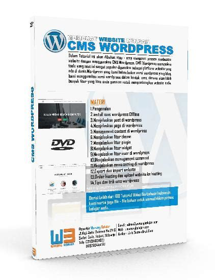 membuat cms wordpress tutorial wordpress membuat website profesional dengan cms