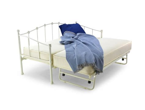 2ft 6 Mid Sleeper by Metal Beds 2ft6 75cm Small Single Ivory Metal Day