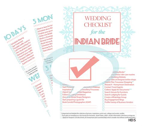 Wedding Checklist Indian by Indian Brides Essentials Brides Wedding Planning Guide