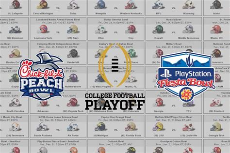 printable schedule for 2017 bowl games nfl playoff picture 2017 images