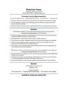 Resume Templates Customer Service by Cutomer Service Resume