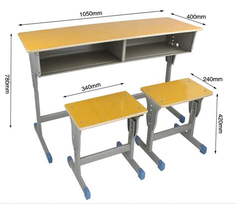 Mk Combo School Desk And Chair School Desk With Attached Student Desk Dimensions