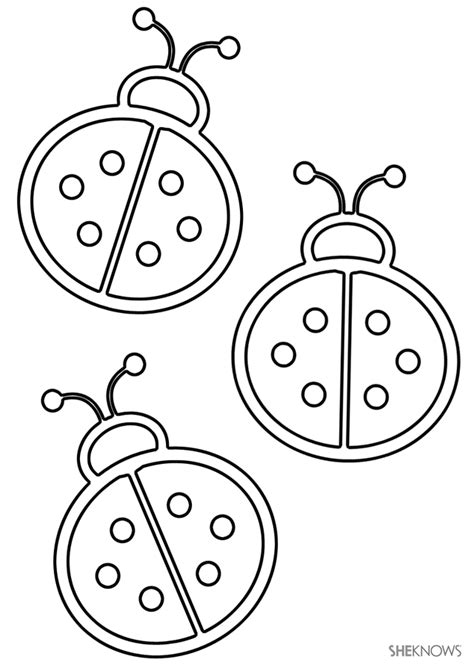 printable coloring pages ladybugs printable ladybug coloring pages coloring home