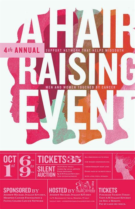design poster event a hair raising event poster design pinterest