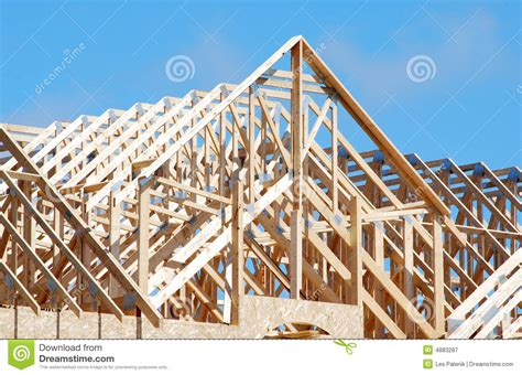 wooden roof trusses stock image image  wooden