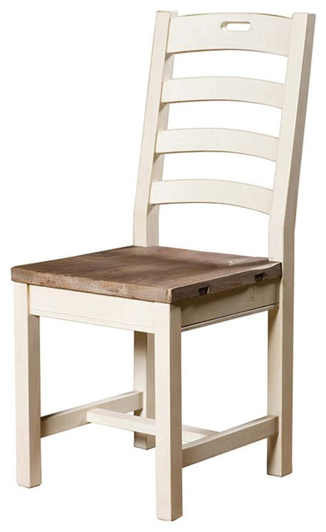 cottage ladder back dining chair white style