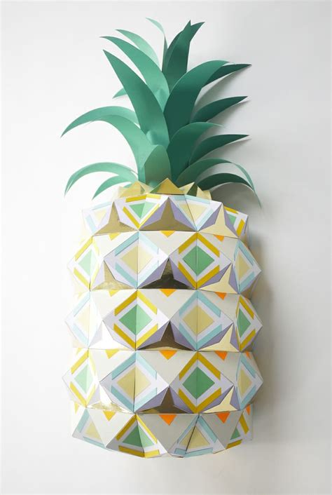 Paper Pineapple Craft - paper pineapple la pi 241 a