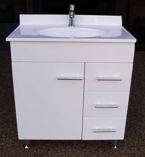 bathroom vanity units on legs daedalus wpl750r 750mm polyurethane bathroom vanity unit
