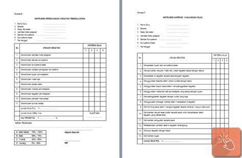 format buku tamu untuk sekolah format buku tamu supervisi program dan format instrumen