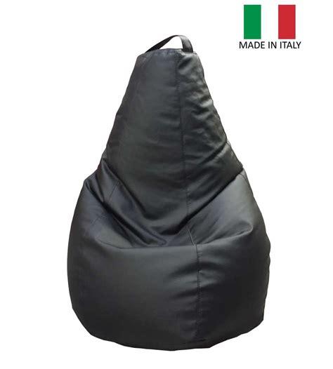 poltrona sacco ecopelle pouf poltrona sacco in ecopelle 125 x 70 quot lollo quot nero