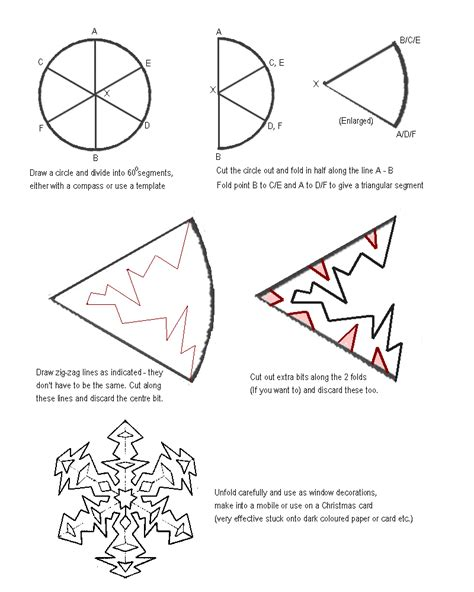 How To Make Paper Patterns - traditions snowflake cutout craft