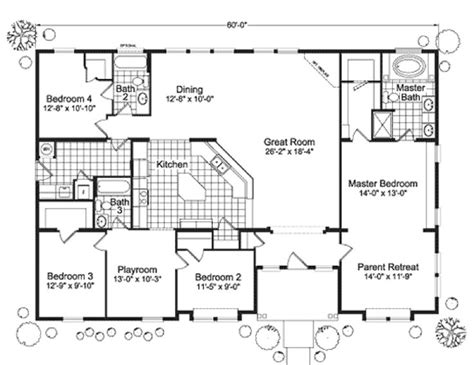 4 bedroom mobile home floor plans modular home floor plans 4 bedrooms fuller modular homes