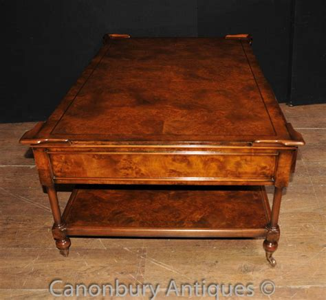 regency coffee table regency coffee table burr walnut tables furniture