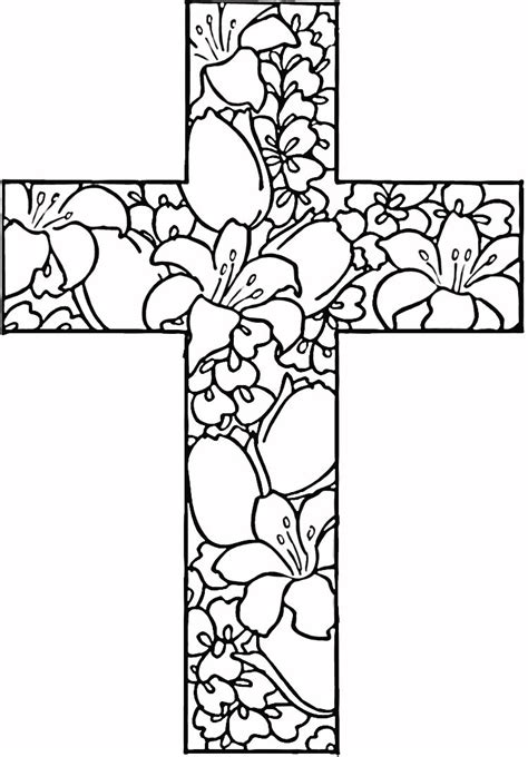 25 Religious Easter Coloring Pages Flowers Free Coloring Pages For Seniors