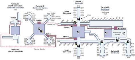 houston texas airport terminal map iah airport houston map
